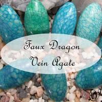 polymer clay faux dragon vein agate