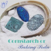 Baking polymer clay with cornstarch or baking soda