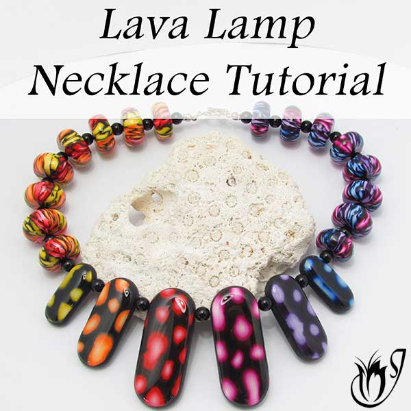 Lava Lamp Polymer Clay Necklace