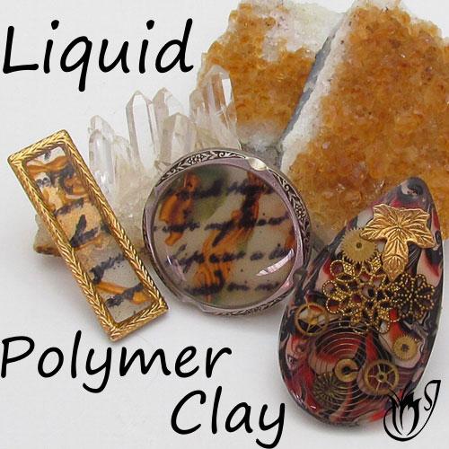 Liquid polymer clay beads