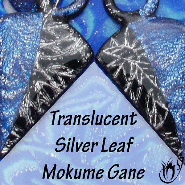Translucent silver leaf mokume gane technique