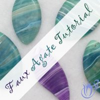 Polymer clay faux agate pendant