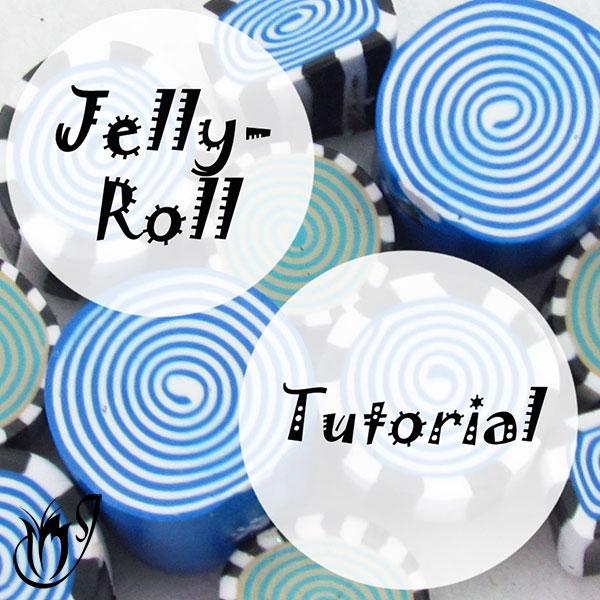 Polymer clay jellyroll cane tutorial