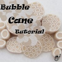 Translucent polymer clay bubble cane tutorial