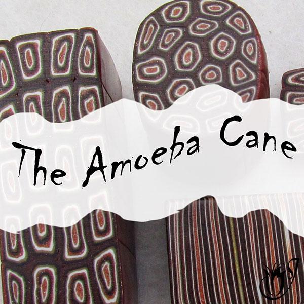 Polymer clay amoeba cane