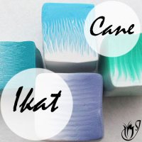 polymer clay ikat canes