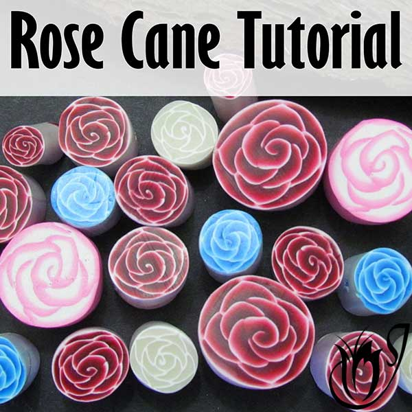 Polymer clay rose cane