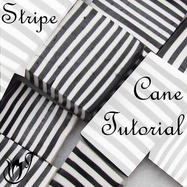 Polymer clay stripe cane tutorial