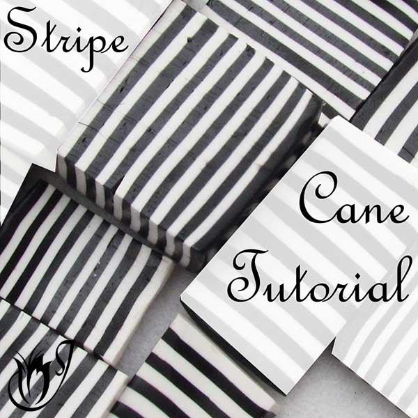 Polymer clay stripe cane tutorial