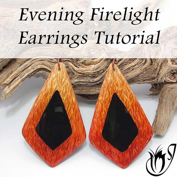 Evening Firelight Polymer Clay Earrings