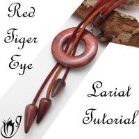 Red Tiger Eye Polymer Clay Lariat