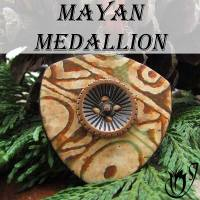 Polymer clay medallion