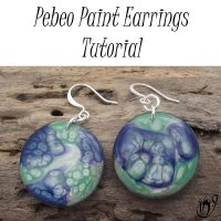 Pebeo paint polymer clay earrings
