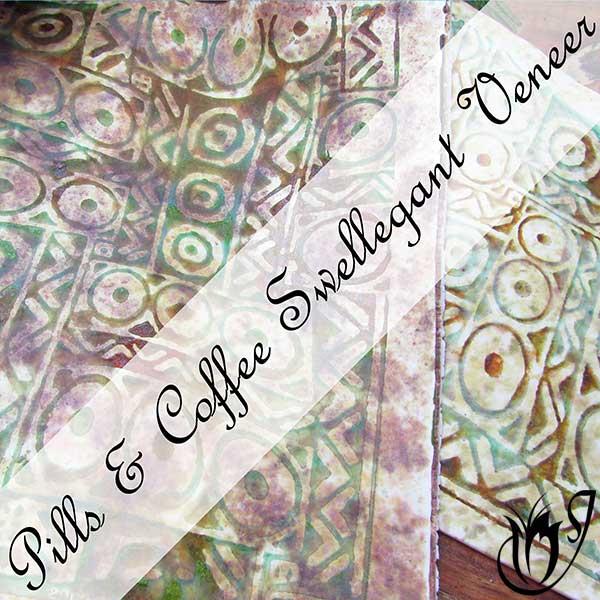 Polymer clay silk screen veneer