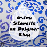 Polymer clay with stenciled powders