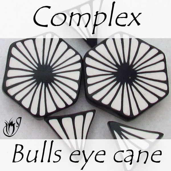 Complex bulls eye petal cane