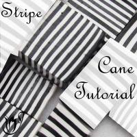 Polymer clay striped cane tutorial