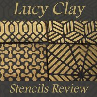Lucy Clay Stencils Pattern on Polymer Clay