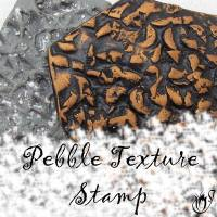 Handmade polymer clay texture stamp