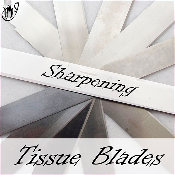 Sharpening polymer clay tissue blades