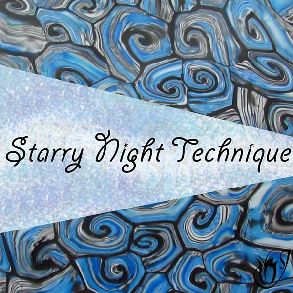 Polymer clay starry night technique