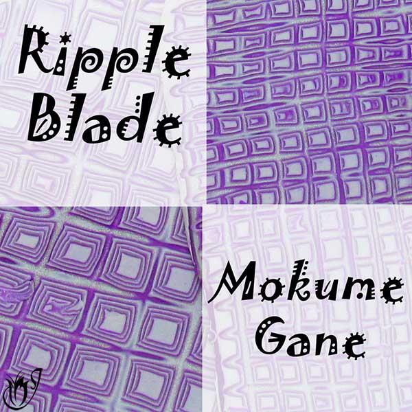 Polymer clay ripple blade mokume gane