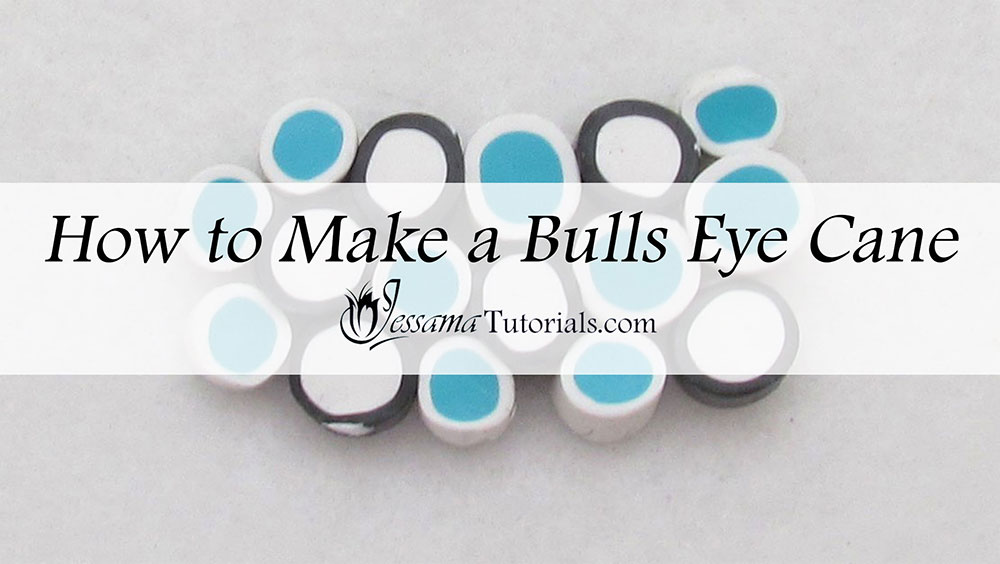 Polymer clay basic bulls eye cane