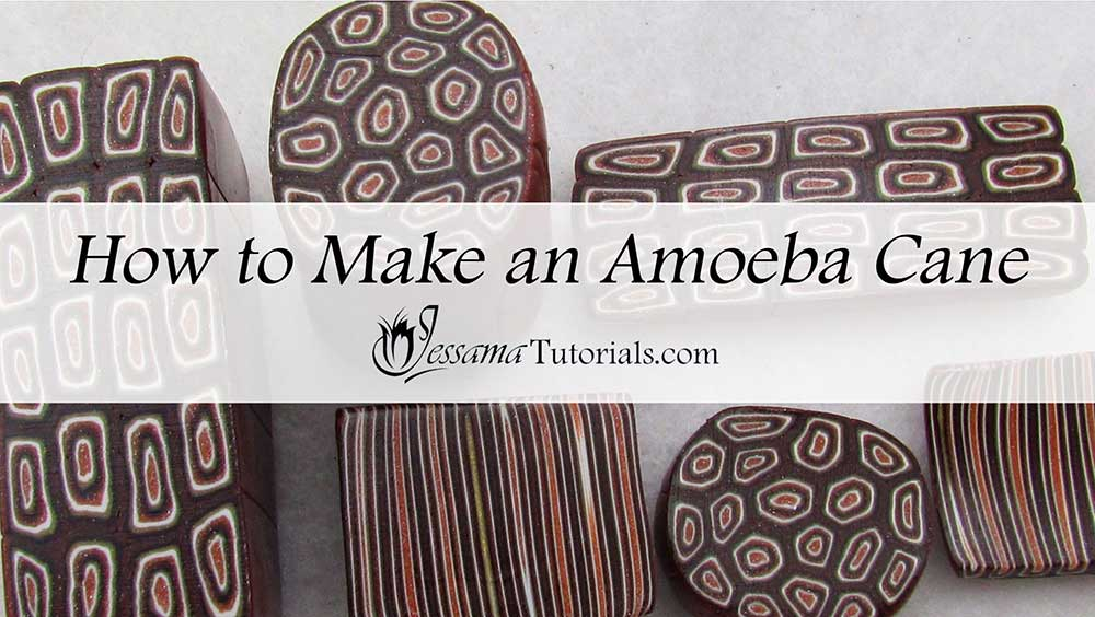 How to make an amoeba bulls eye cane