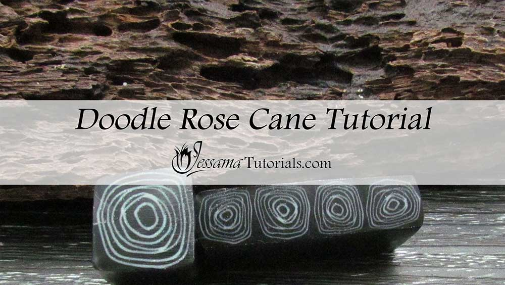 Polymer Clay Doodle Rose Cane