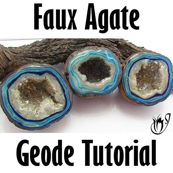 Faux Agate Geode Polymer Clay Tutorial