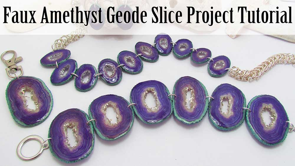 Polymer Clay Faux Amethyst Geode Slice Project
