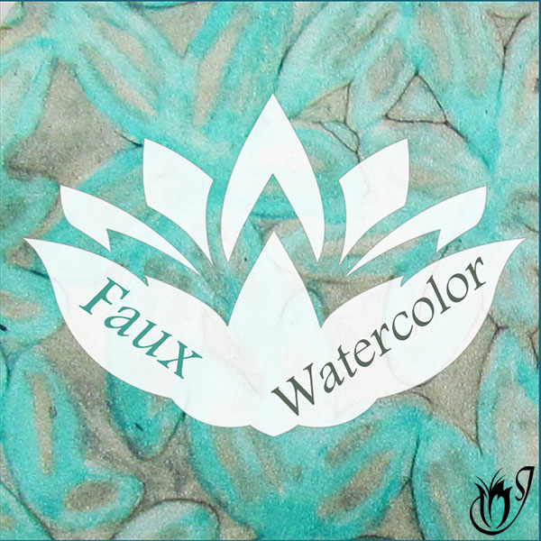 Faux Polymer clay watercolor technique