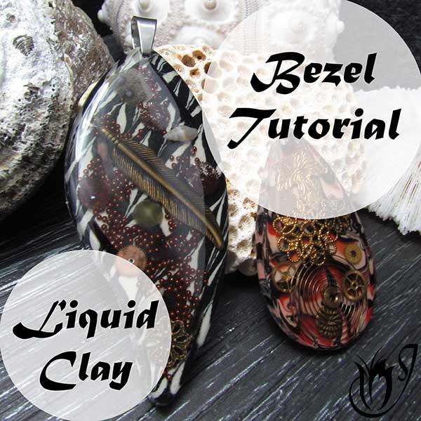 Liquid Polymer Clay Bezel