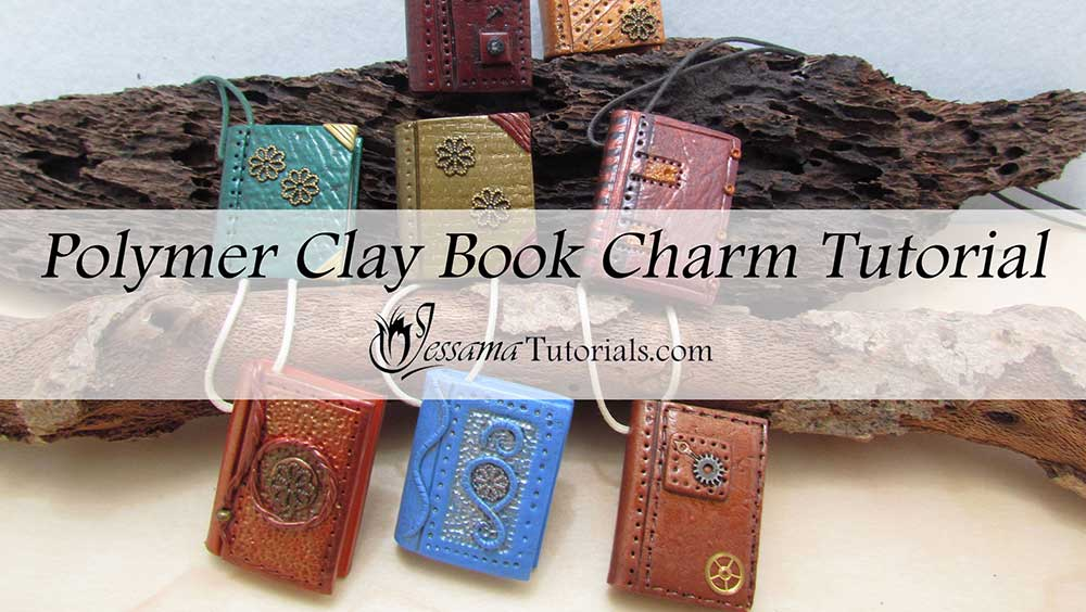 polymer clay book charms