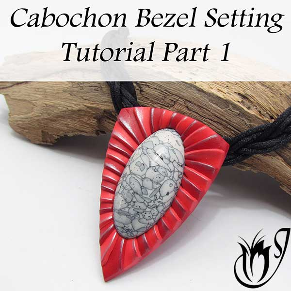Polymer clay cabochon setting Part One