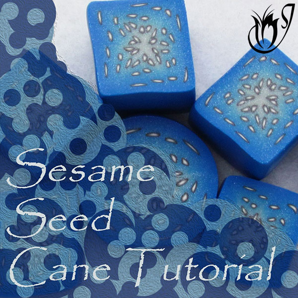 Polymer clay sesame seed cane