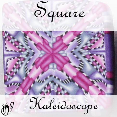 Square Kaleidoscope Polymer Clay Cane