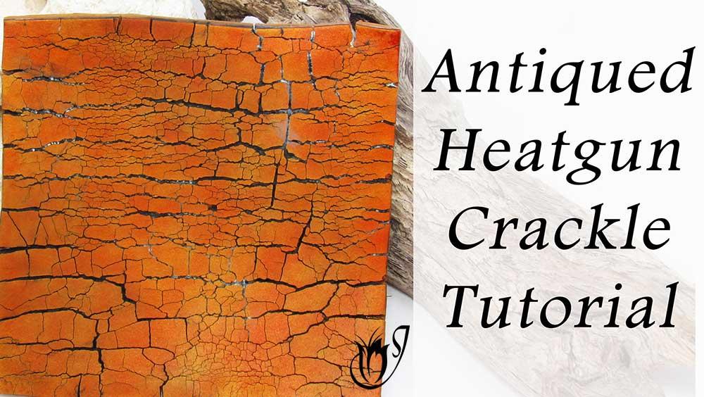 Antiqued Heatgun Polymer Clay Crackle