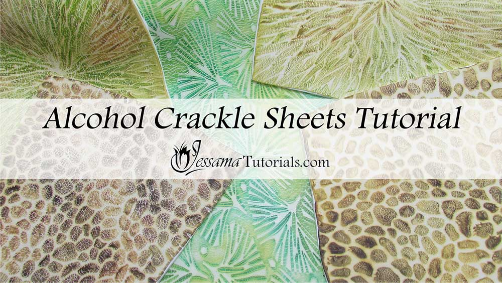 Polymer clay alcohol crackle