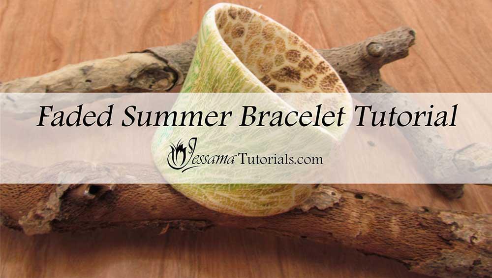 Faded Summer Polymer Clay Cuff Bracelet
