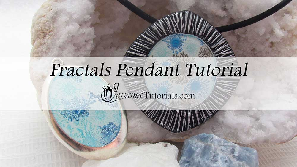 Polymer clay bezel with fractals