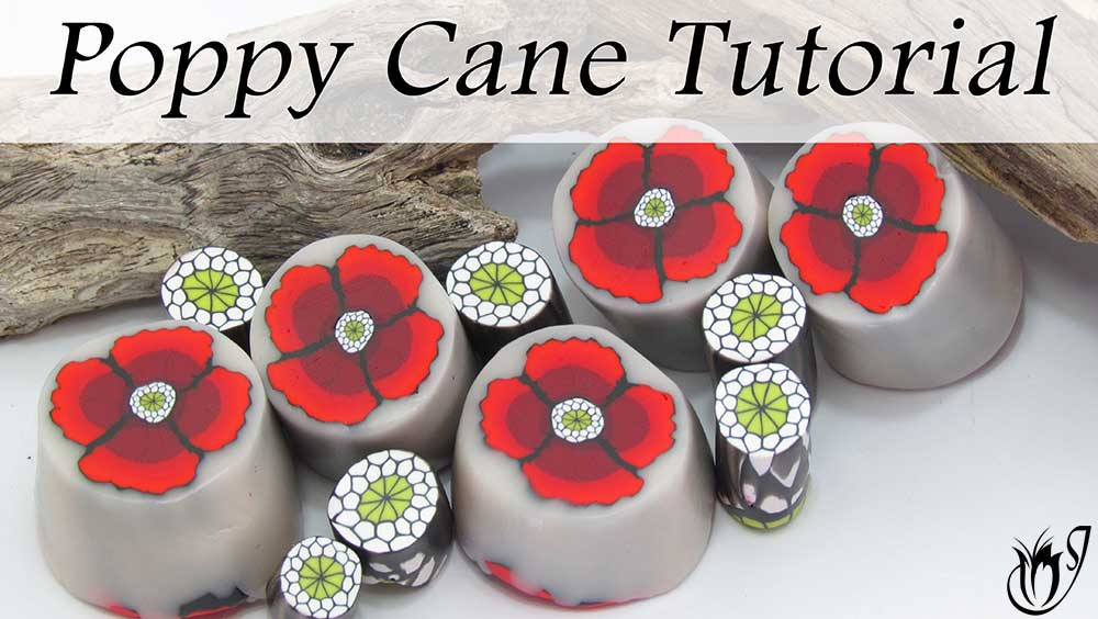 polymer clay poppy cane