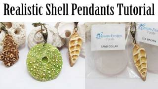 Polymer clay shell pendants