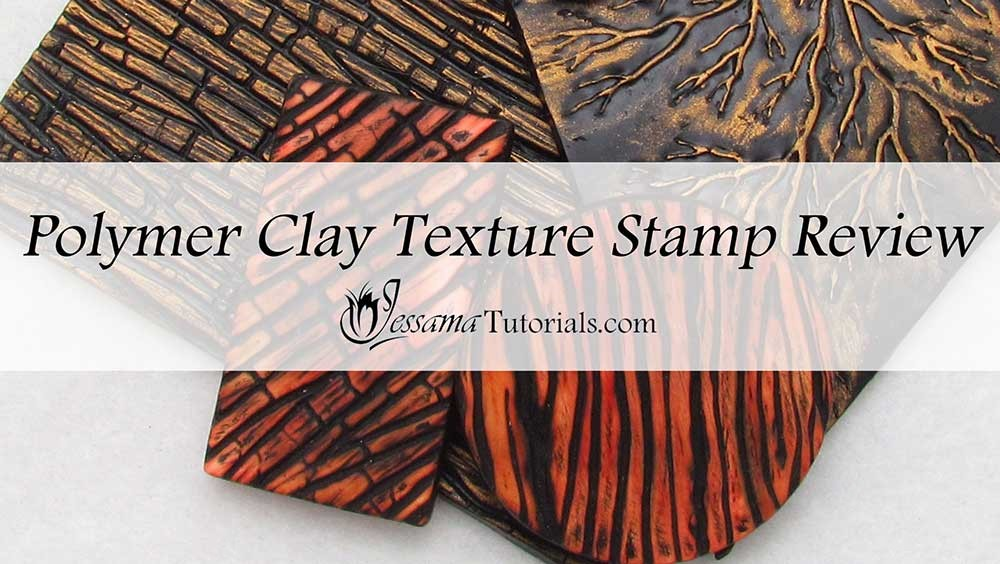 Polymer clay texture stamps