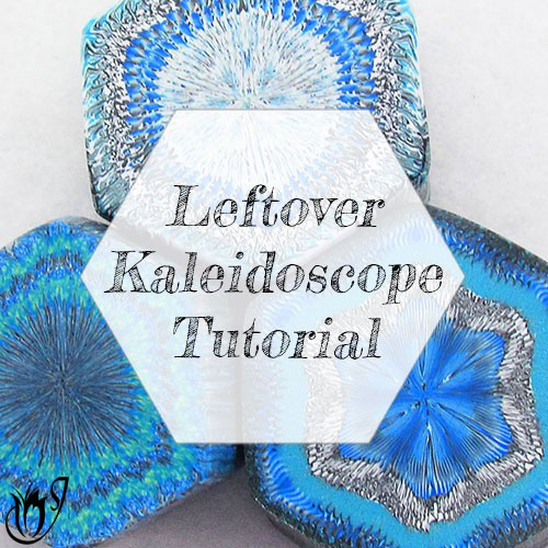 Leftover Kaleidoscope Polymer Clay Cane