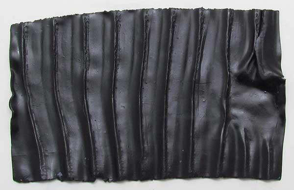 Black rippled Premo polymer clay