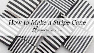 How to make a polymer clay striped cane