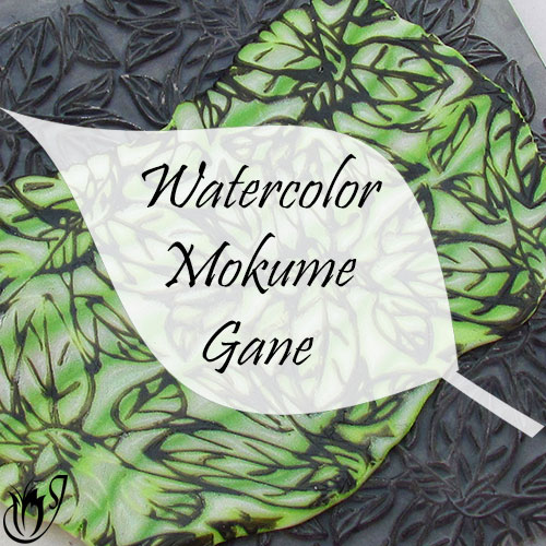 Polymer clay watercolor Mokume Gane