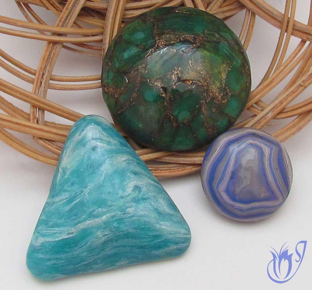 Polymer clay faux gemstones