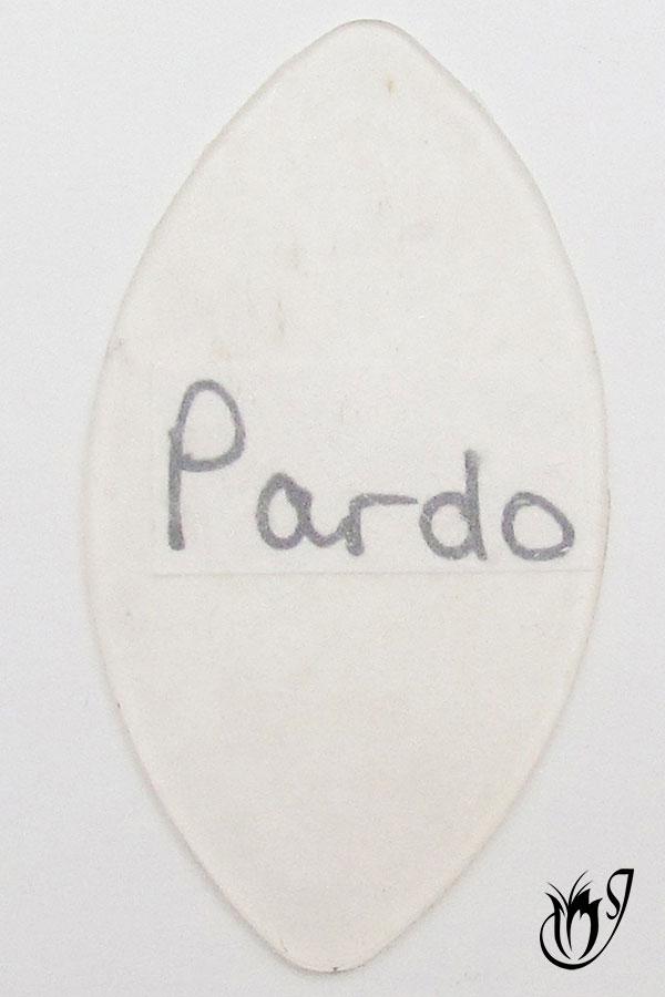Thin translucent Pardo polymer clay